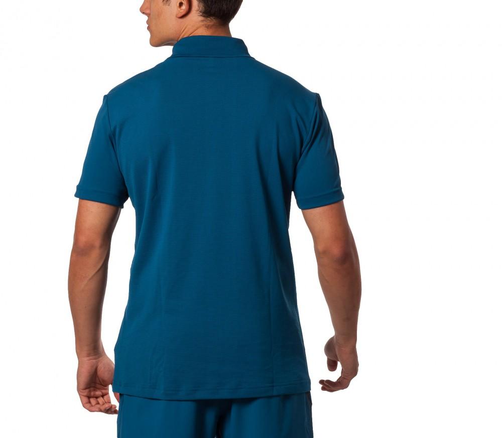 Adidas barricade polo herren shirt blau wei im online for Adidas barricade polo shirt